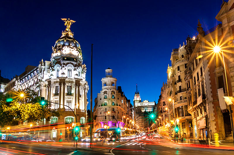Cali4travel- Madrid-Spain Photo at Night
